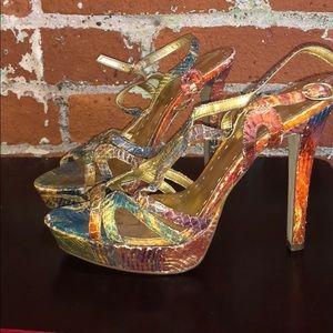 BCBG open toe heels